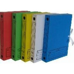 Папка архивная с завязками А4 045мм синяя, №2