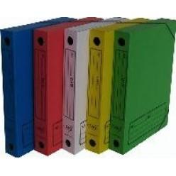 Папка архивная на резинке А4 70мм желтая