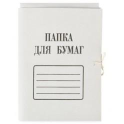 Папка картонная д/бумаг с зав. 0,4мм, 290г/м2, немелованная, белая