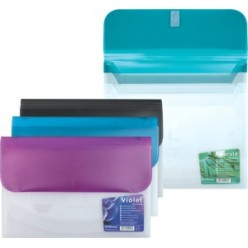 Папка пластиковая липучка А4 04отд. EK Vivid Colors ассорти