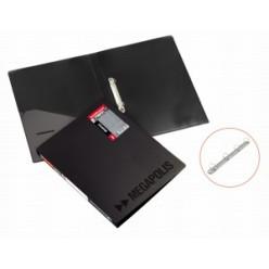 Папка пластиковая 2 кольца А4 24мм, EK Megapolis черная