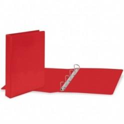 Папка картонная 4 кольца А4 50мм ПВХ, красная