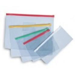 Папка пластиковая на молнии ticket size (для авиабилетов), прозрачная, цвет ассорти, TRAVEL