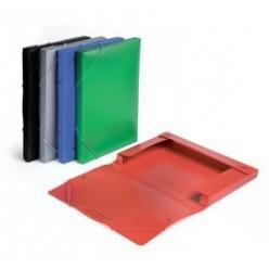 Папка пластиковая резинка 01отд. А4 Бюрократ 25мм, зеленый BA25/05grn