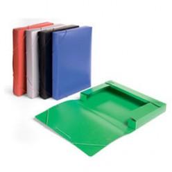 Папка пластиковая резинка 01отд. А4 Бюрократ 40мм, зеленый (BA40/07grn)