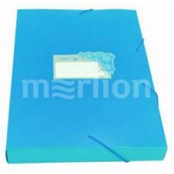 Папка пластиковая резинка 01отд. А4 Бюрократ 40мм, Tropic голубой (TR520azure)