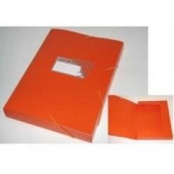 Папка пластиковая резинка 01отд. А4 Бюрократ 40мм, Tropic оранжевый(TR520or)
