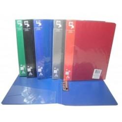 Папка пластиковая зажим + карман А4 Бюрократ 0,7мм, синяя (PZ07Cblu)