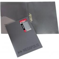 Папка пластиковая зажим + карман А4 EK Megapolis серый