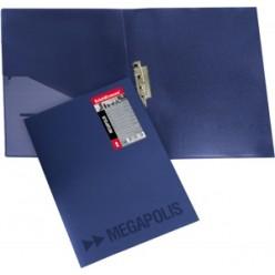Папка пластиковая зажим + карман А4 EK Megapolis синий