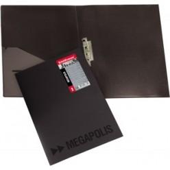 Папка пластиковая зажим + карман А4 EK Megapolis черный