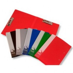 Папка пластиковая зажим + зажим А4/А3 Бюрократ 0,7мм, ассорти (PZ07A4/A3)