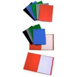 Папка пластиковая с файлами А4 010вкл, Бюрократ синяя, 040мм (EC10blue)