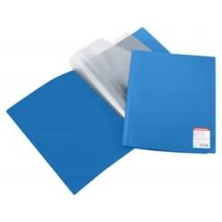 Папка пластиковая с файлами А4 010вкл, EK Standart синяя