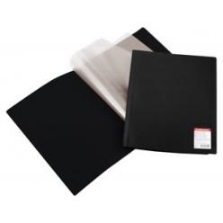 Папка пластиковая с файлами А4 010вкл, EK Standart черная