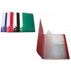 Папка пластиковая с файлами А4 010вкл, Бюрократ зеленая (BPV10grn)