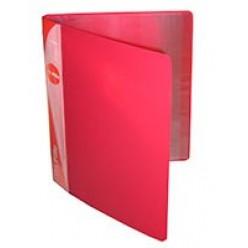 Папка пластиковая с файлами А4 010вкл, Бюрократ красная (BPV10red)