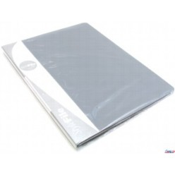 Папка пластиковая с файлами А4 010вкл, Бюрократ серая (BPV10grey)