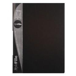 Папка пластиковая с файлами А4 010вкл, Бюрократ черная (BPV10blck)