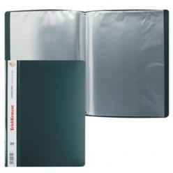 Папка пластиковая с файлами А4 020вкл, EK Diamond зеленая