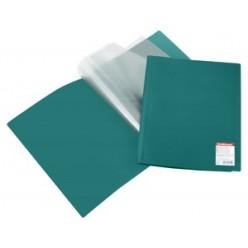 Папка пластиковая с файлами А4 020вкл, EK Standart зеленая