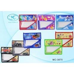 Папка для тетрадей А5 липучка, пластик прозрачный, 23,8х19,5х4,5 цвет ассорти