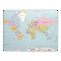 Настольная подкладка для письма 40*60см Карта мира политическая (7211-19)