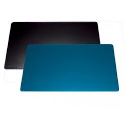 Настольная подкладка для письма 52*65см с декор. желобк. черная