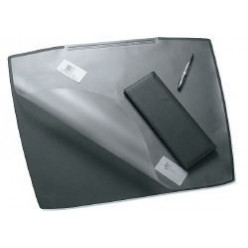 Настольная подкладка для письма 53*68см Artwork с прозрачным листом, черная (824963)