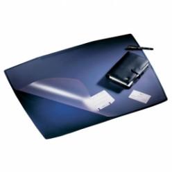 Настольная подкладка для письма 53*68см Artwork с прозрачным листом, темно-синяя (7201-07)