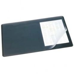 Настольная подкладка для письма 40*60см Durable с прозрачным листом, черная (824966)