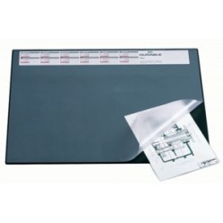 Настольная подкладка для письма 52*65см Durable с прозрачным листом, календарь, серая (824972)