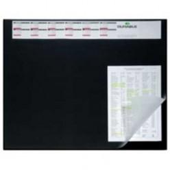 Настольная подкладка для письма 52*65см Durable с прозрачным листом, календарь, черная (824970)