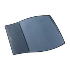 Настольная подкладка для письма 39*44см Durable с прозрачным листом, 3 яруса, боковой карман, черная
