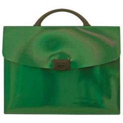 Портфель пластик. 01отд, А4, Index, зеленый