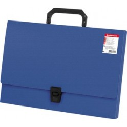 Портфель пластик. 01отд, А4, EK Attache, синий