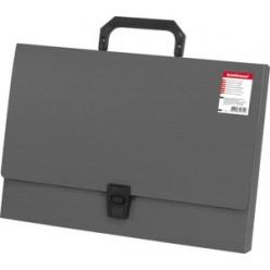 Портфель пластик. 01отд, А4, EK Attache, серый