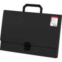 Портфель пластик. 01отд, А4, EK Attache, черный