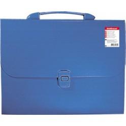 Портфель пластик. 12отд, А4, EK Attache, синий