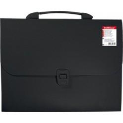 Портфель пластик. 12отд, А4, EK Attache, черный