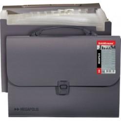Портфель пластик. 12отд, А4, EK Attache Megapolis, серый
