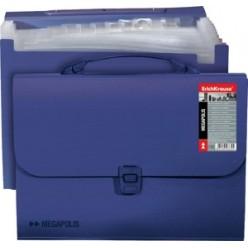 Портфель пластик. 12отд, А4, EK Attache Megapolis, синий