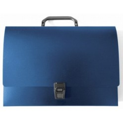Портфель пластик. 01отд, А4, Workmate, синий