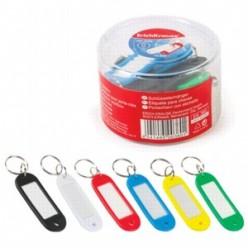Брелок для ключей с инфо-окном, пластик, ассорти