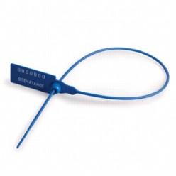 """Пломба пластиковая """"Альфа-М"""" 50шт/уп, номерная, длина рабочей части 320 мм синие"""