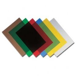 Обложка для переплета А4, 180мкм, прозрачная, зеленая, 100шт.