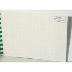 Обложка для переплета А4, картон, под кожу, 230гр./м2, белая, 100шт.