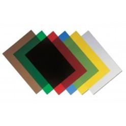 Обложка для переплета А4, 180мкм, прозрачная, красная, 100шт.