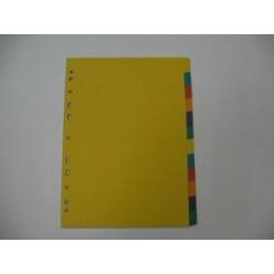 Разделитель цветной А4 12 разд, картон