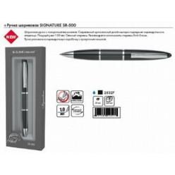 Ручка шариковая ErichKrause SIGNATURE SR-500, металлический поворотный корпус, черный в футляре